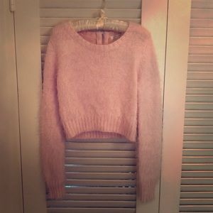 Sweaters - Fuzzy cropped sweater